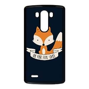 LG G3 Cell Phone Case Black Oh For Fox Sake - Colour Kwwmu