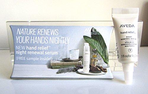 Aveda Hand Relief Night Renewal Serum, Sample Size, .1 Oz