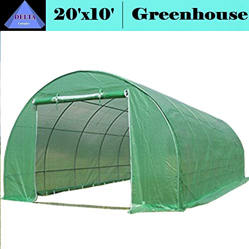 Clear Peak High Canopy (DELTA Canopies Greenhouse 20'x10' (B2) 94 lbs - Green House Walk in Hot House)