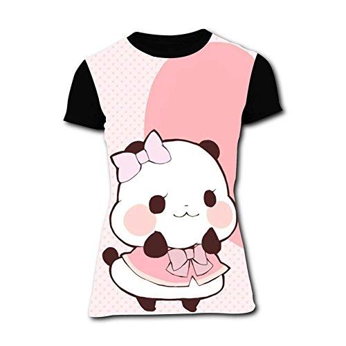 Funny Love Panda Womens Tee T-Shirt 3D Prints Costume L