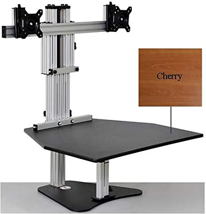 amazon com ergo desktop ed ke cherry kangaroo elite adjustable rh amazon com  kangaroo standing desk mat