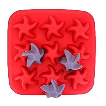 Starfish Silicone Ice Cube Tray Jelly Chocolate Pudding Mold // De silicona de hielo de