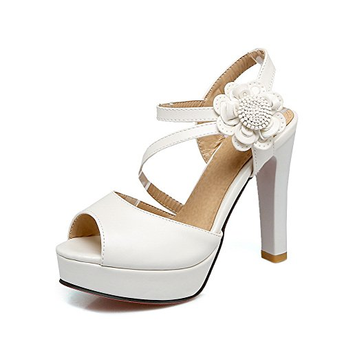 35 ASL05367 Donna Ballerine Bianco EU BalaMasa White X0qf1w8