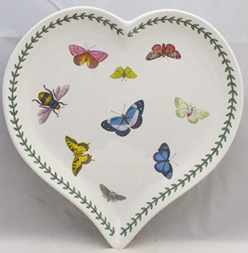 Portmeirion Botanic Garden Butterflies Large Heart Shaped Dish