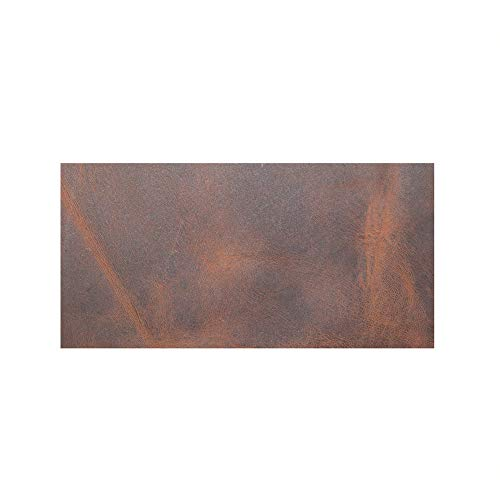 Hide & Drink, Rustic Leather Rectangles (3 x 6 in.) 8 Piece Set for Crafts/Tooling/Hobby Workshop, Heavy Weight (1.6-1.8mm) :: Bourbon Brown ()