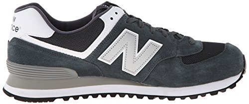 888546369214 - New Balance Men's ML574 Picnic Pack Collection Classic Running Shoe, Dark Grey/Silver, 7 D US carousel main 6