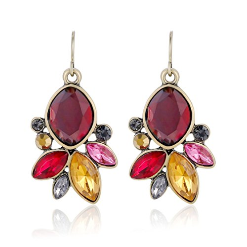 Ellena Rose Cubic Zirconia Flower Drop Earrings For Women