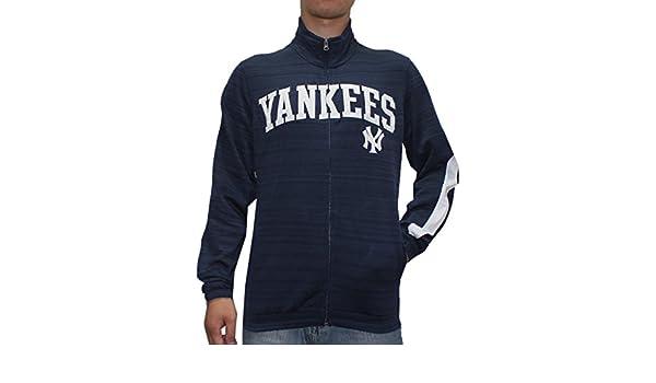 NY Yankees Mens atlético cálido con cremallera chaqueta de chándal ...