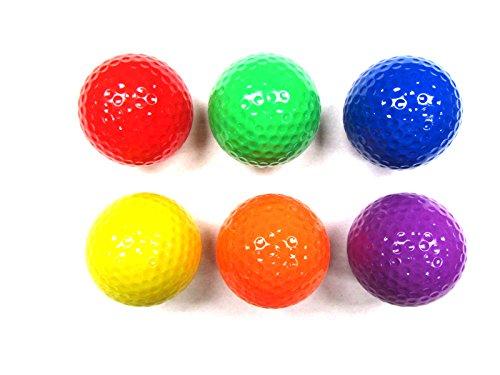 Aviat Color Mini Golf Ball Set - 6 colorful golf balls ...