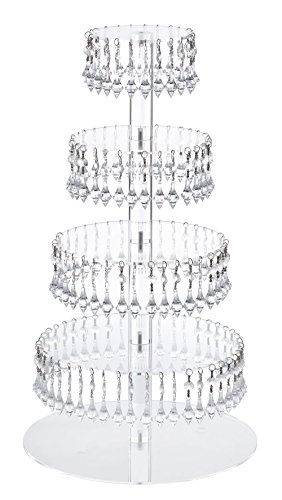 Jusalpha Acrylic Bead wedding Tower Cupcake Holder Pastry