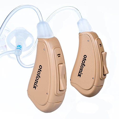 Otofonix Elite Hearing Amplifier to Assist and Aid Hearing for Adults and Seniors (Pair, Beige)