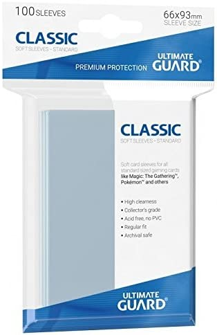 100 Ultimate Guard Classic Soft Sleeves taille standard