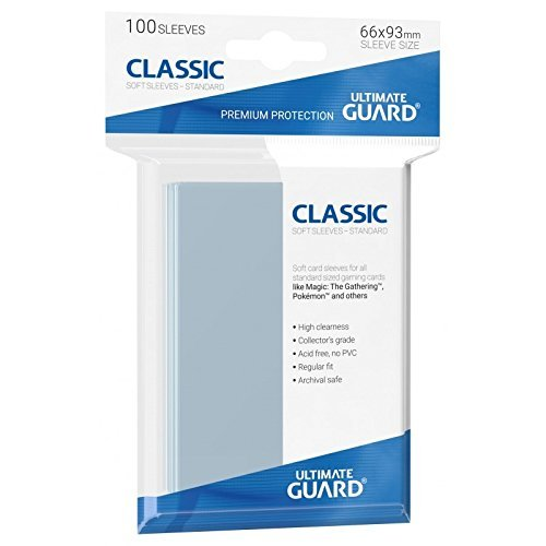 Ultimate Guard UGD10001 - Pack de 100 fundas para tarjetas (66 x 93 mm), transparente