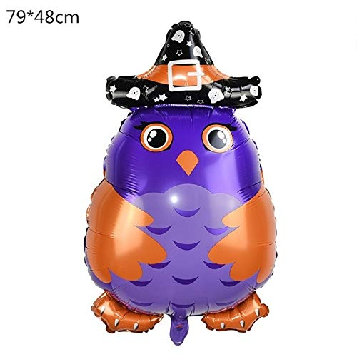 VDV Artificial Flowers Halloween Pumpkin Ghost Balloons Halloween Decorations Spider Foil Balloons Inflatable Toys Bat Globos Halloween Party Supplies Wisteria Artificial Flowers-F]()