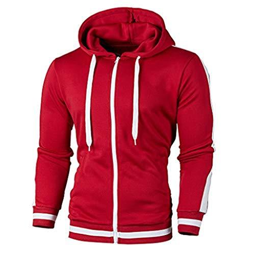 iHHAPY Men's Sweat Jacket 2019 Winter Streetwear Sweatshirt Sport Jacket Quilted Jacket Leisure Pullover Sweater Outwear ()