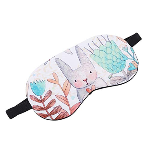 LZIYAN Cartoon Sleep Eye Mask Breathable Cute Animal Pattern Sleeping Mask Travel Sleeping Blindfold Nap Cover Gift For Everyone,Rabbit by LZIYAN (Image #2)