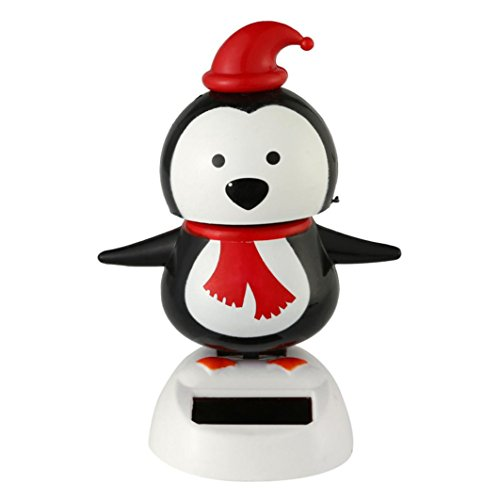 Solar Power Swing Toy - Christmas Decorations,Black Friday Sales Promotions Putars Fashion Solar Powered Dancing Christmas Swinging Animated Bobble Dancer Toy Car Decor for Christmas Decorations