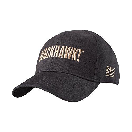 BLACKHAWK! Men's Cotton Spandex Fitted Cap, Large/X-Large, Black
