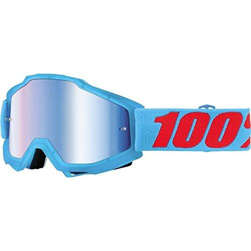 100  Accuri Youth Goggle, Acidulous Cyan with Mirror Blue Lens