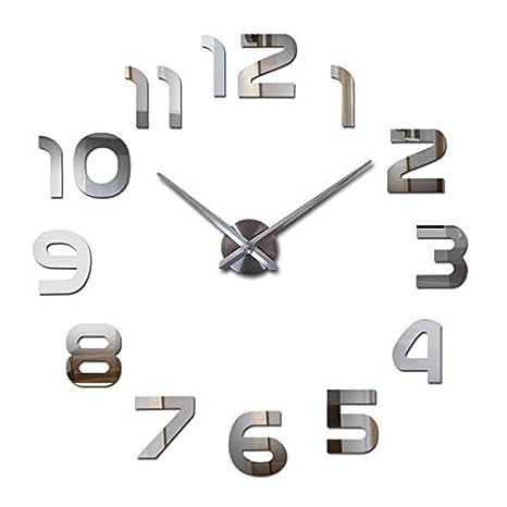 Kamas New Acrylic Mirror DIY Clock Watch Wall Stickers Clocks Reloj De Pared Horloge Large Decorative