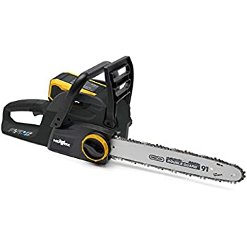 MOWOX MNA1271 40V Battery Powered Chain Saw with Tool-Free Chain Tension (Battery &