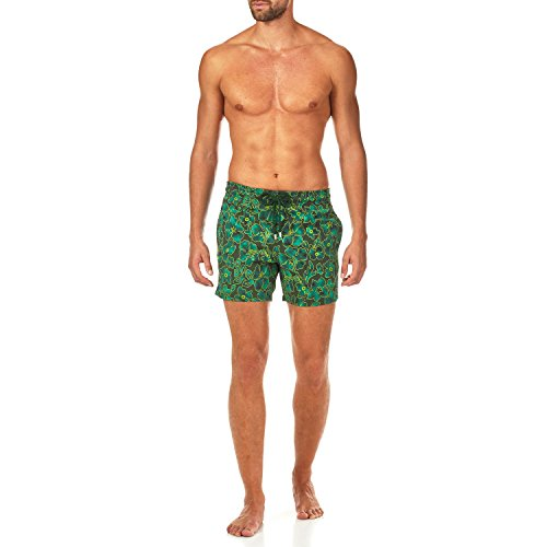 Vilebrequin Natural Flowers Superflex Superflex Swim shorts - Men - olive - L by Vilebrequin