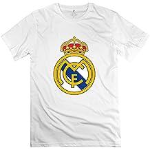Men Real Madrid Logo Custom O Neck DeepHeather Tee Shirts By Mjensen