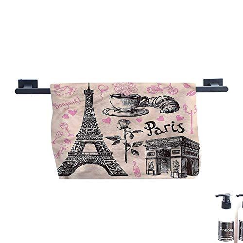 Dry Fast Towel,Eiffel-Tower,Bakery-in-Paris-Eiffel.,Gym Swim Hotel Use W 27.5