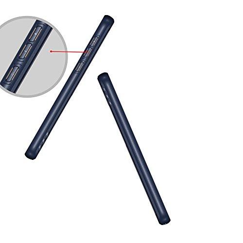 Caja texturizada a prueba de golpes suave TPU para Motorola Moto G6 ( Color : Blue ) Blue