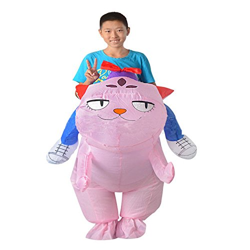 Costume Shuttle Space Dog (Wecloth Inflatable Suit Inflatable Ride Blow Up Pink Cat Dog Costume Halloween Party Dress Fancy)