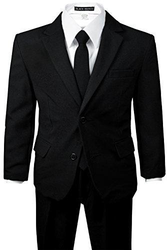 Amazon.com: Los niños bebé traje negro con dos botones de ...