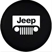 Automelody 31''Pvc Leather Spare Tyre Cover Tire Cover Black For Jeep Grand Cherokee Gr.Cherokee Wrangler (type1)
