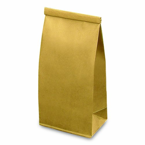 Ties Poly Bag - Bagcraft Papercon 300947 EcoCraft Stand Up Bakery and Coffee Bag with Paper Lined Tin Ties, 1-lb Capacity, 9-3/4