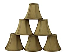 Urbanest Silk Bell Chandelier Lamp Shade, 3-inch by 6-inch by 5-inch, Clip-on