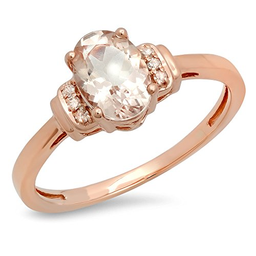 14K Rose Gold Oval Cut Morgani