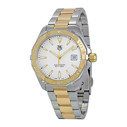 (TAG Heuer Men's 'Aquaracracer' Swiss Quartz Gold and Stainless Steel Dress Watch, Color:Two Tone (Model: WAY1120.BB0930))