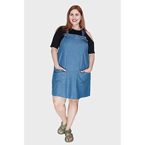 Vestido Salopete Plus Size Azul-48