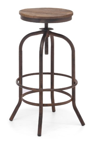[Zuo Modern Twin Peaks Barstool, Distressed Natural] (Bar Stool 6 Finishes)
