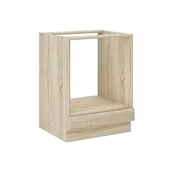 Lassen mueble bajo horno 60 cm - Décor Chene Clair Sonoma: Amazon ...