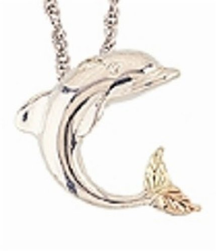 Black Hills Gold Silver Dolphin ()