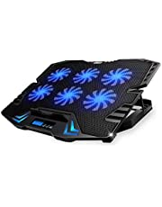 Five Fan Laptop Radiator Cooling Pad For 12inch 13inch 14inch 15inch 15.6inch Laptop Notebook LED Touch Screen Speed Control Cooler