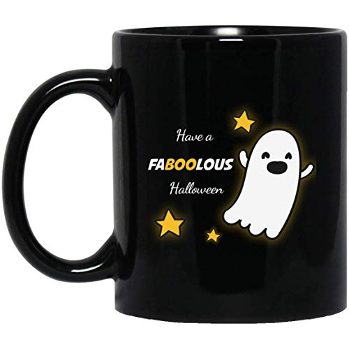 TG MUGS, Halloween Mug - Have FABOOLOUS Halloween - Ceramic Coffee Mug Tea Cup (Black) (11oz) -