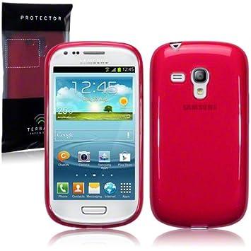 Funda Carcasa Gel Roja para Samsung Galaxy S3 Mini i8190 Rojo Translúcido
