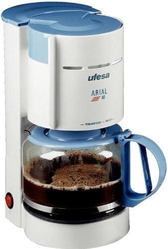 Ufesa CG7220 Arial 40, Blanco, Azul, 800 W, 230 V, 230 V, 50 Hz, 270 x 300 x 150 mm - Máquina de café: Amazon.es: Hogar