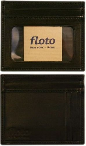 Firenze Leather Card Case Color: Black - Firenze Card Case