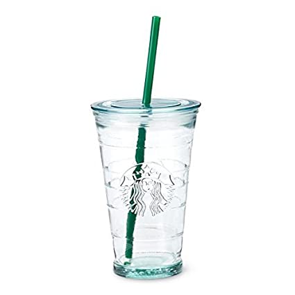 ad61ffc67e5 Starbucks Glass Cold Drink Tumbler Cup 16fl oz