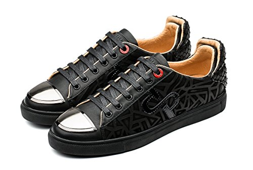 Flat up Sneaker Shoes OPP Leather Casual Lace Unique Men's Blue Design 2 4Yw0txA