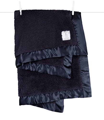 Little Giraffe Chenille Stroller Baby Blanket, Denim, 29