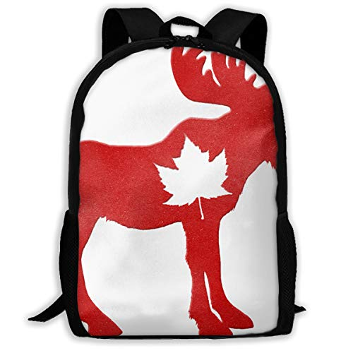 Happy Canada Day Moose Maple Leaf.png Travel Hiking Lightweight Mens Womens Unisex Computer Gaming Laptop Backpack,Boys Girls School Book Bag