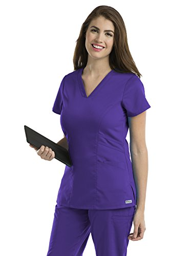 Grey's Anatomy 41452 V-Neck Top Purple Rain - Purple Grey With